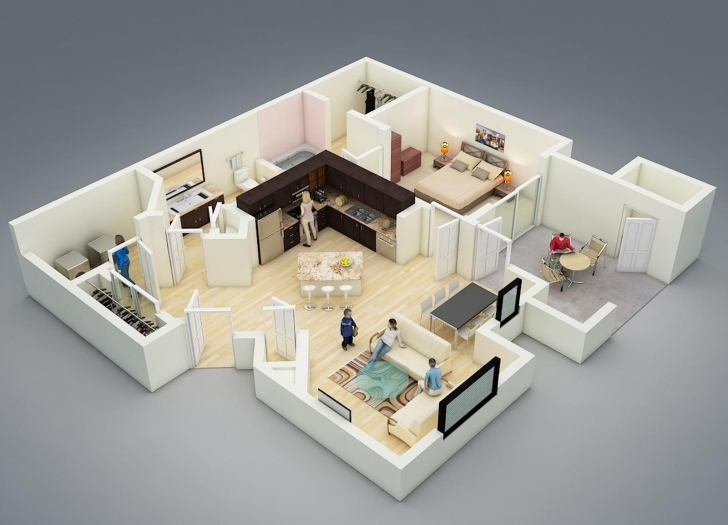 Cool 124215+ Large One Bedroom Apartment Plans And Designs U2014 Simple House Plans With Interior Pictures Pic