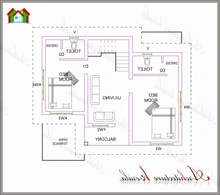 Cool 18 Awesome 1000 Sq Ft House Plans 2 Bedroom Indian Style | Frit-Fond 2 Bedroom House Plans Picture