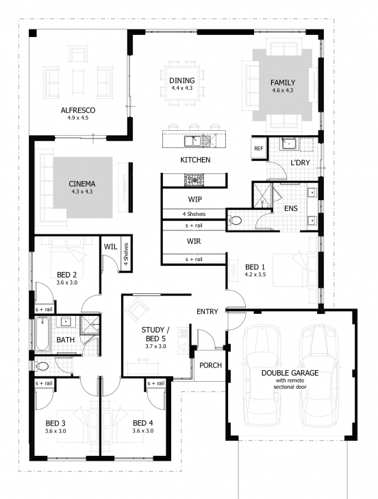 Cool 4 Bedroom House Plans & Home Designs | Celebration Homes Floor Plans For Houses Photo