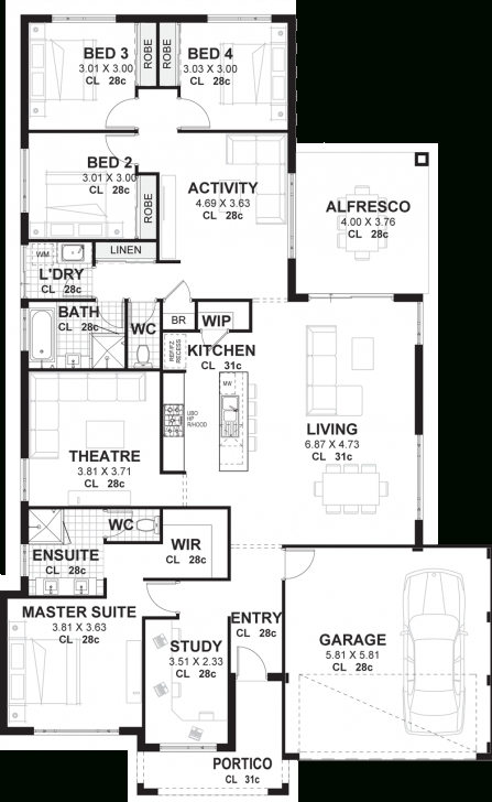 Cool 4 Bedroom House Plans & Home Designs Perth | Vision One Homes 4 Bedroom House Plans Picture
