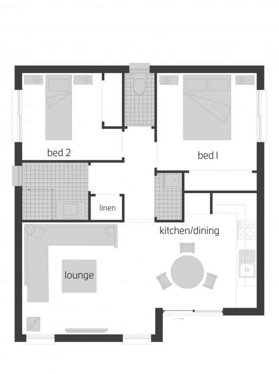 Cool Granny Flats - Floorplans | Mcdonald Jones Homes Granny Flat Floor Plans Photo