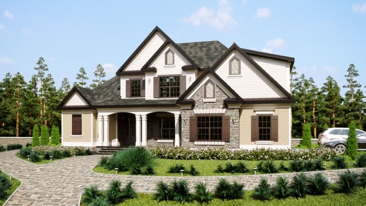 Cool Three Story Southern Style House Plan With Front Porch | House Plans Southern House Plans Pic