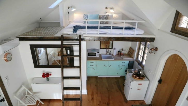 Cool Tiny Home Energy Efficient Split Loft Bedrooms | Small House Design Tiny House Plans With Loft Pic
