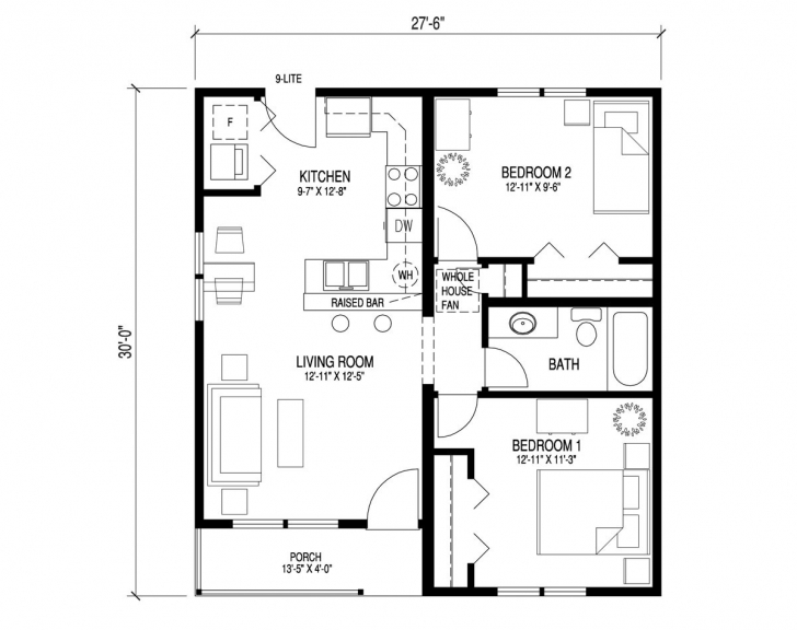 Exquisite 3 Bedroom Tiny House Plans Elegant Cool Simple Bungalow Floor Plans 3 Bedroom Tiny House Plans Image