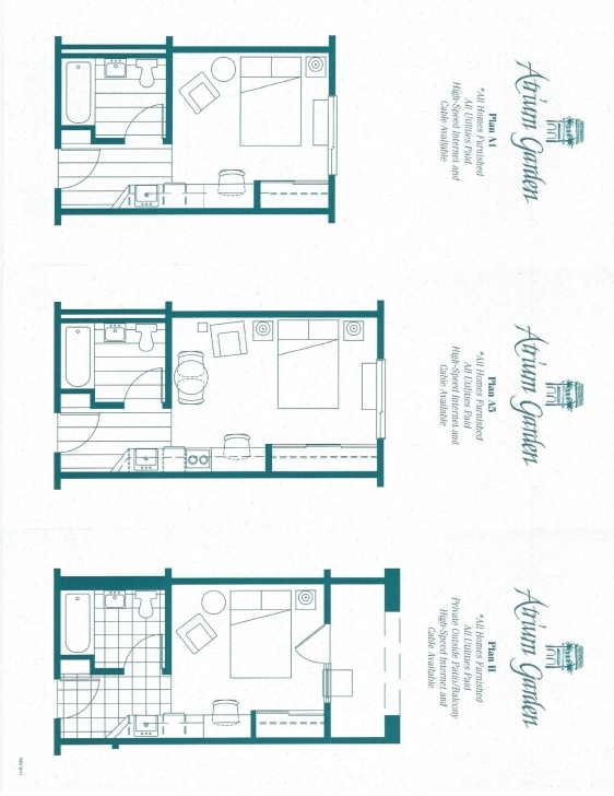 Exquisite Atrium Garden Studio Apartments Atrium Floor Plan Picture