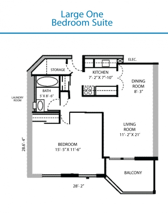 Exquisite Floor Plan Of The Large One Bedroom Suite Quinte Living, Basic Home Large One Bedroom Floor Plans Pic