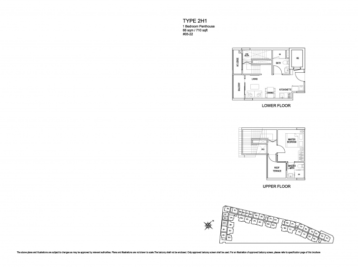 Exquisite Penthouse-1 Bed - Kensington Square Kensington Square Floor Plan Image