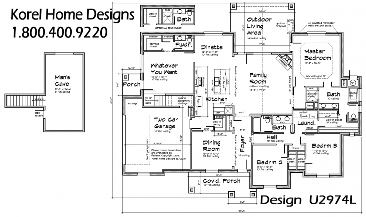Exquisite Texas House Plan U2974L | Texas House Plans - Over 700 Proven Home Texas Floor Plans Pic
