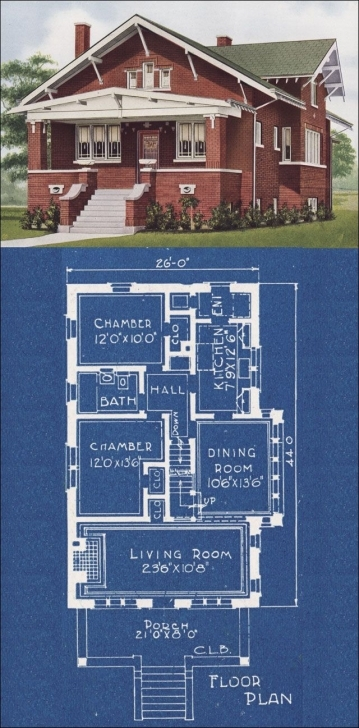Fantastic 1921 American Homes Beautiful By Cl Bowes Co, Design 12000. This Is Chicago Style Bungalow Floor Plans Picture