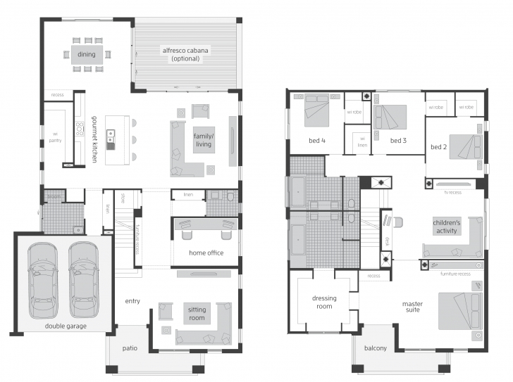 Fantastic 2 Storey Floor Plan | Beautiful Places/home Plans | Pinterest Modern Family House Floor Plan Picture