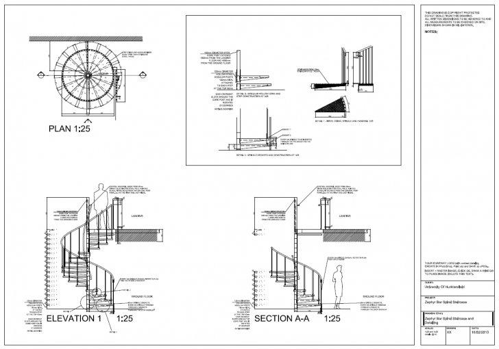 Fantastic Autocad 2012 Spiral Staircase Detail Drawings, Plan, Section Floor Plan Spiral Staircase Pic