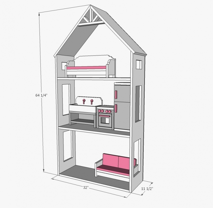 Fantastic Diy American Girl Doll House Plans Beautiful American Girl Dollhouse 18 Inch Doll House Plans Picture