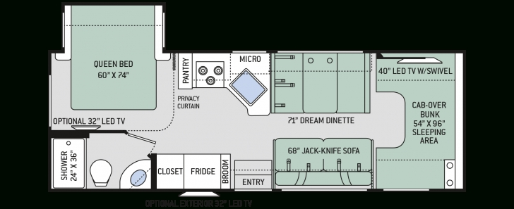 Fantastic Motorhome Floor Plans With Bunk Beds, Home Floor Plans Rv Bunks - Zeens Motorhome Floor Plans Picture