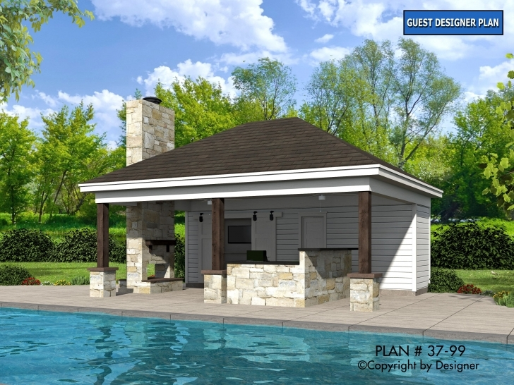 Fantastic Pool House Plan 37-99 | House Plans By Garrell Associates, Inc. Pool House Plans Image