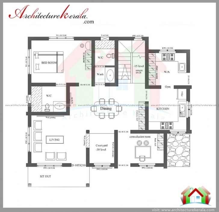 Fantastic Single Floor 4 Bedroom House Plans Kerala New 3 Bhk Home Plan New Single Floor 4 Bedroom House Plans Kerala Pic
