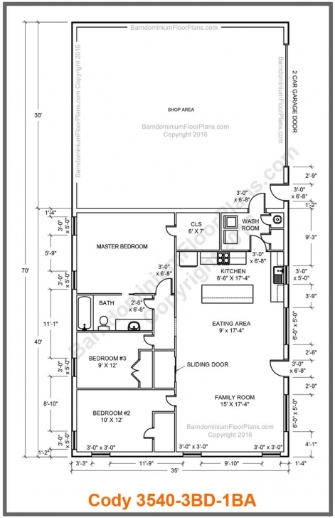 Fascinating Barndominium Floor Plans | Texas Barndominium Floor Plans Image