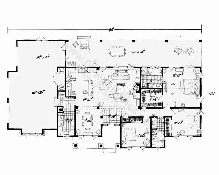 Fascinating Floor Plans For Small One Story Houses Luxury Home Plans E Story 1 One Level House Plans Pic