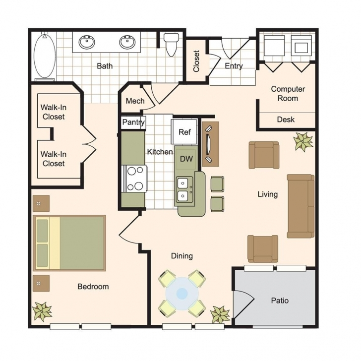 Fascinating Floor Plans | Renaissance At Preston Hollow Luxury Apartments Dallas Apartment Floor Plans Pic