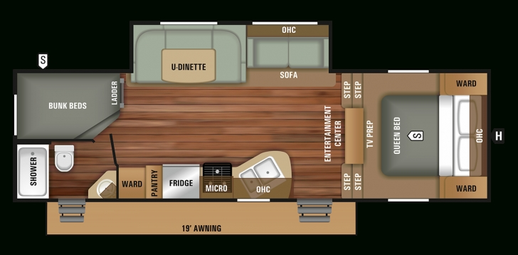 Fascinating Small 5Th Wheel Rv Floor Plan | 2018 Autumn Ridge Outfitter 265Bhs Fifth Wheel Rv Floor Plans Picture