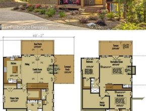 Fascinating Small Cabin Home Plan With Open Living Floor Plan | House Plans House Plans Cottage Photo