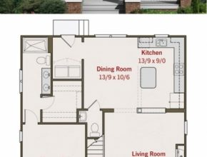 Fascinating Small Craftsman Bungalow Floor Plan And Elevation | House Plans Little House Plans Photo