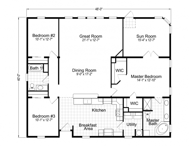 Fascinating Wellington 40483A Manufactured Home Floor Plan Or Modular Floor Plans Palm Harbor Floor Plans Image