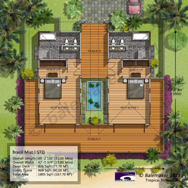 Good Balemaker Tropical House Floor Plans Modeling Design | Bali Tropical Floor Plans Photo