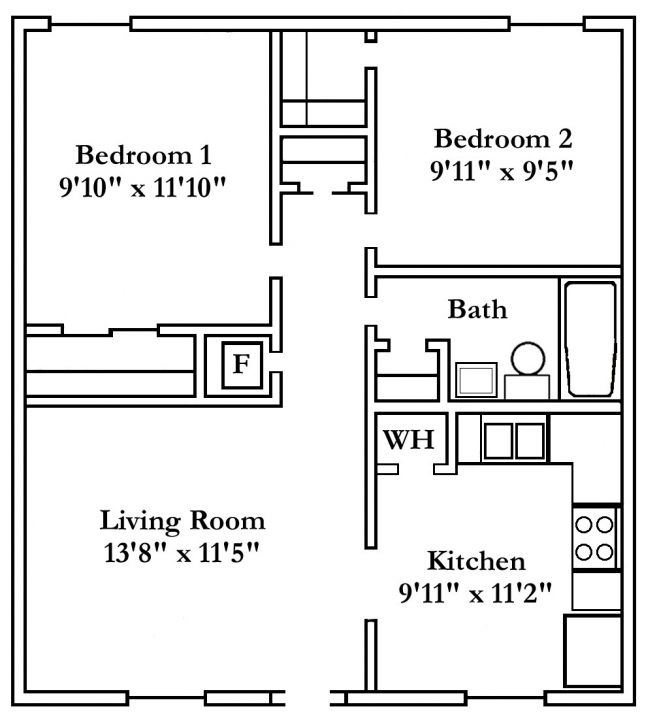 Good Beautiful Popular Apartment Floor Plans 2 Bedroom For Hall 2 Bedroom Apartment Floor Plans Pic