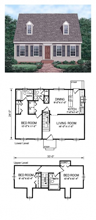 Good Cape Cod House Plan 45336 | Total Living Area: 1199 Sq. Ft., 3 Cape Cod House Plans Pic