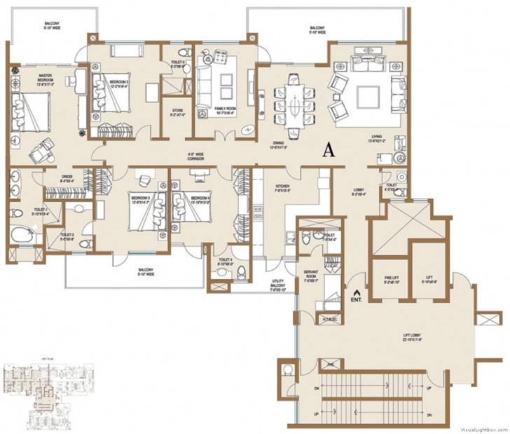 Good Central Park Resorts Ii Belgravia (Phase-1) Sector 48 Gurgaon, Gurugram Central Park 1 Gurgaon Floor Plans Image