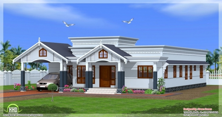 Good Kerala Home Plan Single Floor Best Of Single Floor 4 Bedroom House Single Floor Kerala House Plans Photo