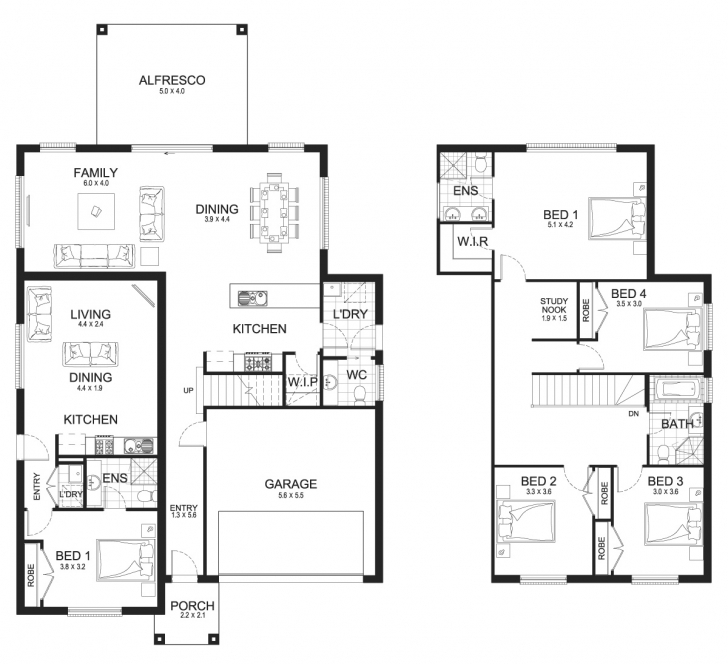 Good New Home Builders | Madison Dual 33 - Dual-Living Storey Home Designs Dual Living Floor Plans Image