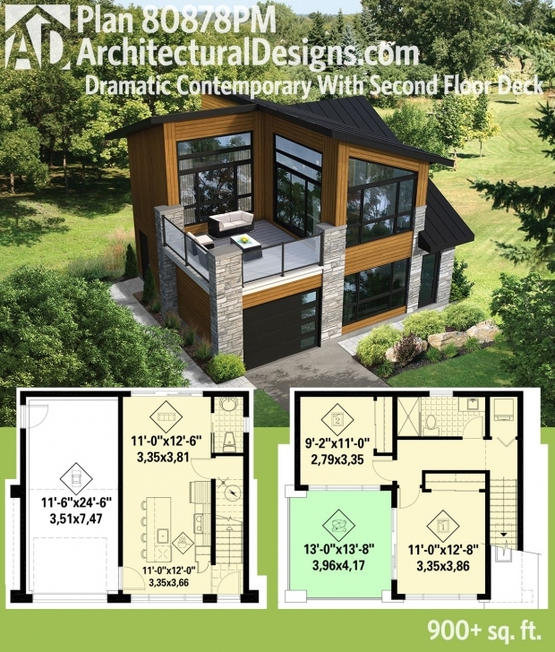 Good Plan 80878Pm: Dramatic Contemporary With Second Floor Deck In 2018 Small Modern House Plans Picture