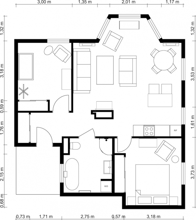 Gorgeous 2 Bedroom Floor Plans | Roomsketcher 2 Bedroom House Plans Pic