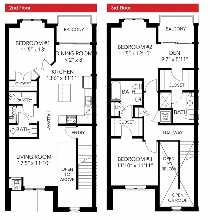 Gorgeous 2 Story Townhouse Floor Plans Townhouse Floor Plans Photo