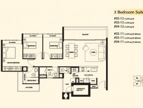 Gorgeous 3 Bedroom (Suite) - Dukes Residences Dukes Residences Floor Plan Pic