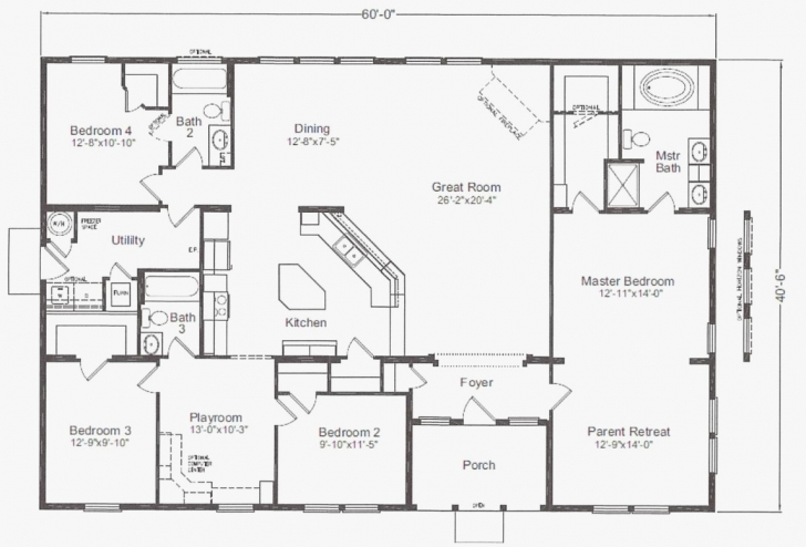 Gorgeous 40 X 60 House Floor Plans India Luxury 40×60 House Plans Luxury X House 40x60 Floor Plans Picture