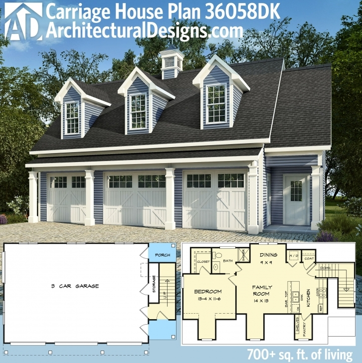 Gorgeous Architectural Designs Carriage House Plan 36058Dk Makes A Great In Carriage House Plans Image