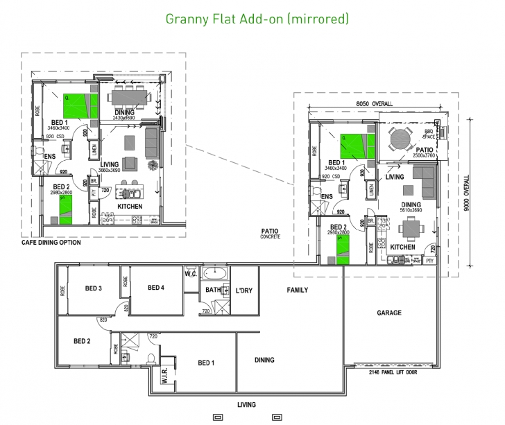 Gorgeous Attached Granny Flats | Stroud Homes Granny Flat Floor Plans Image
