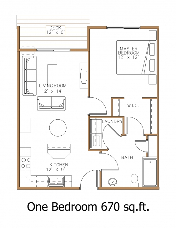 Gorgeous Floor Plan Of A One Bedroom Apartment - Emiliesbeauty - Large One Bedroom Floor Plans Picture