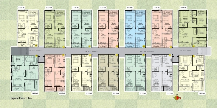 Gorgeous Floor Plan - Sai Krupa Builders - Lakeridge Apartments At Nizampet Apartment Floor Plans Pic