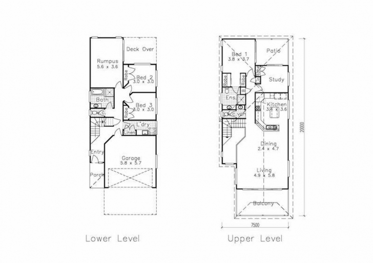 Gorgeous Ideas For Narrow Lot House Plans Tavernierspa Awesome House Plans Narrow House Plans Photo