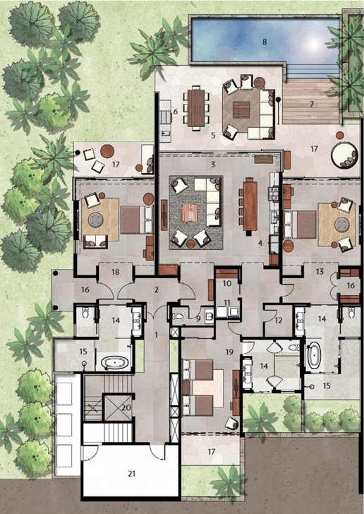 Gorgeous Los Cabos Luxury Villas Floor Plans | Chileno Bay Resort & Residences Villa Floor Plans Photo
