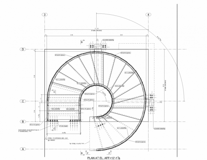 Gorgeous Pin Spiral Stair Plans Stairs Crafted In Wood On Pinterest For Floor Floor Plan Spiral Staircase Picture