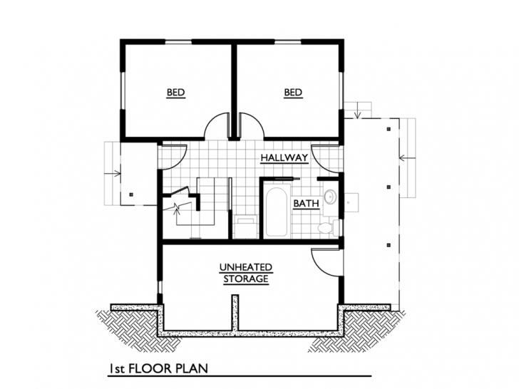Gorgeous Small House Plans Under 1000 Sqft 2 Bedroom, Small House Floor Plans 1000 Sq Feet House Plans Picture