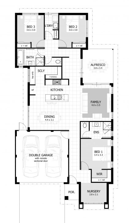 Great 3 Bedroom House Plans & Home Designs | Celebration Homes 3 Bedroom 2 Bath Floor Plans Photo