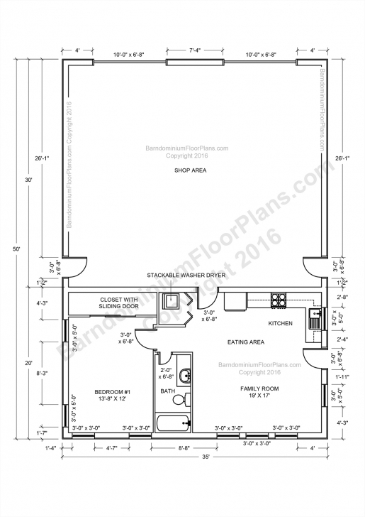 Great Barndominium Floor Plans, Pole Barn House Plans And Metal, Pole Barn Barndominium Floor Plans Picture