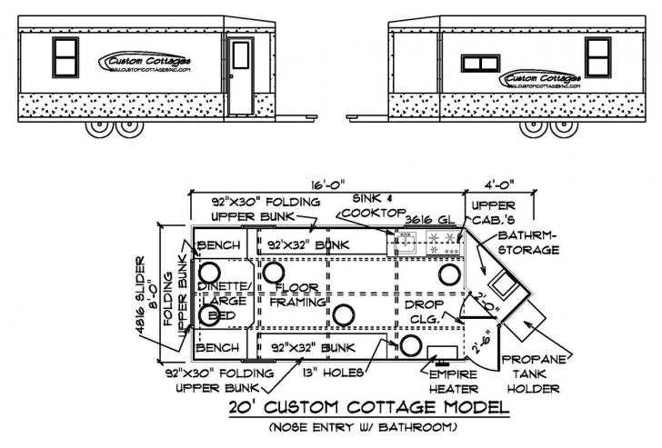 Great Custom Cottages Inc. - Mobile Shelter Design For Ice Fishing Ice Fishing House Plans Pic