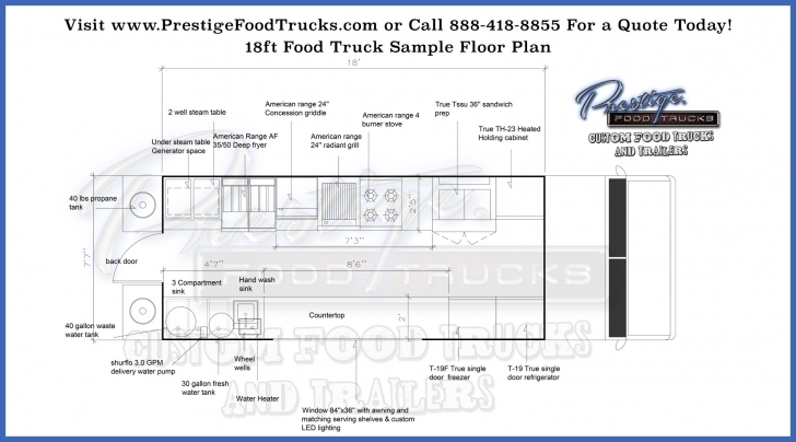 Great Custom Food Truck Floor Plan Samples | Prestige Custom Food Truck Food Truck Floor Plans Picture