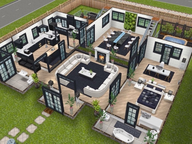 Great House 75 Remodelled Player Designed House - Ground Level #sims Sims House Plans Image